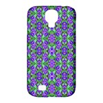 Pretty Purple Flowers Pattern Samsung Galaxy S4 Classic Hardshell Case (PC+Silicone)