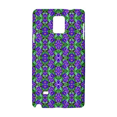 Pretty Purple Flowers Pattern Samsung Galaxy Note 4 Hardshell Case by BrightVibesDesign