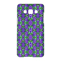 Pretty Purple Flowers Pattern Samsung Galaxy A5 Hardshell Case  by BrightVibesDesign