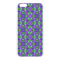 Pretty Purple Flowers Pattern Apple Seamless iPhone 6 Plus/6S Plus Case (Transparent) by BrightVibesDesign