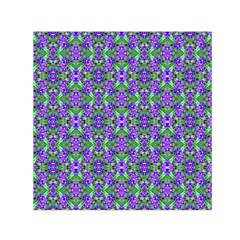 Pretty Purple Flowers Pattern Small Satin Scarf (square) by BrightVibesDesign