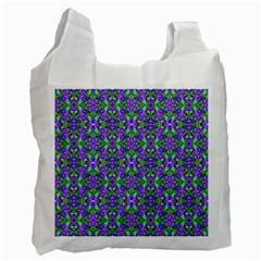 Pretty Purple Flowers Pattern Recycle Bag (one Side) by BrightVibesDesign