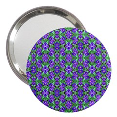 Pretty Purple Flowers Pattern 3  Handbag Mirrors