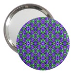 Pretty Purple Flowers Pattern 3  Handbag Mirrors Front