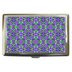 Pretty Purple Flowers Pattern Cigarette Money Cases by BrightVibesDesign