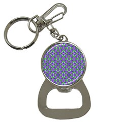 Pretty Purple Flowers Pattern Bottle Opener Key Chains by BrightVibesDesign