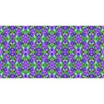 Pretty Purple Flowers Pattern Merry Xmas 3D Greeting Card (8x4)  Back