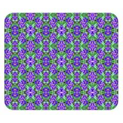 Pretty Purple Flowers Pattern Double Sided Flano Blanket (small)  by BrightVibesDesign