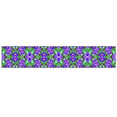 Pretty Purple Flowers Pattern Flano Scarf (large)  by BrightVibesDesign