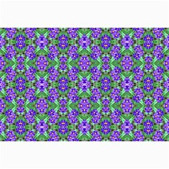 Pretty Purple Flowers Pattern Collage Prints by BrightVibesDesign
