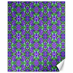 Pretty Purple Flowers Pattern Canvas 16  X 20   by BrightVibesDesign