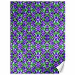 Pretty Purple Flowers Pattern Canvas 36  x 48   by BrightVibesDesign