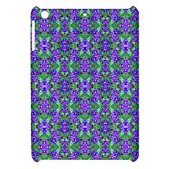 Pretty Purple Flowers Pattern Apple iPad Mini Hardshell Case by BrightVibesDesign