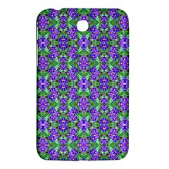 Pretty Purple Flowers Pattern Samsung Galaxy Tab 3 (7 ) P3200 Hardshell Case  by BrightVibesDesign