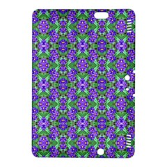 Pretty Purple Flowers Pattern Kindle Fire HDX 8.9  Hardshell Case by BrightVibesDesign
