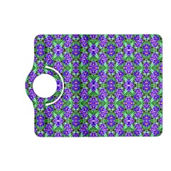 Pretty Purple Flowers Pattern Kindle Fire Hd (2013) Flip 360 Case by BrightVibesDesign