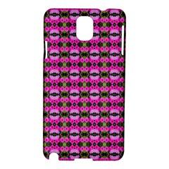 Pretty Pink Flower Pattern Samsung Galaxy Note 3 N9005 Hardshell Case by BrightVibesDesign