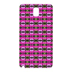Pretty Pink Flower Pattern Samsung Galaxy Note 3 N9005 Hardshell Back Case by BrightVibesDesign