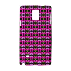 Pretty Pink Flower Pattern Samsung Galaxy Note 4 Hardshell Case by BrightVibesDesign