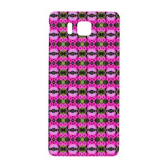 Pretty Pink Flower Pattern Samsung Galaxy Alpha Hardshell Back Case by BrightVibesDesign