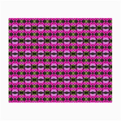 Pretty Pink Flower Pattern Small Glasses Cloth by BrightVibesDesign