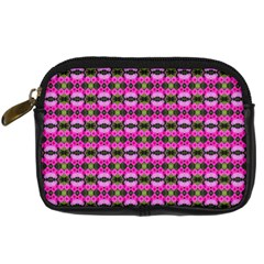 Pretty Pink Flower Pattern Digital Camera Cases by BrightVibesDesign