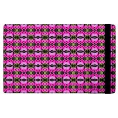 Pretty Pink Flower Pattern Apple Ipad 3/4 Flip Case by BrightVibesDesign