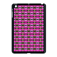 Pretty Pink Flower Pattern Apple Ipad Mini Case (black) by BrightVibesDesign