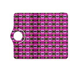 Pretty Pink Flower Pattern Kindle Fire Hdx 8 9  Flip 360 Case by BrightVibesDesign
