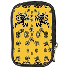 Disco Dancing In The  Tribal Nature  Compact Camera Cases by pepitasart
