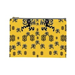 Disco Dancing In The  Tribal Nature  Cosmetic Bag (large)  by pepitasart