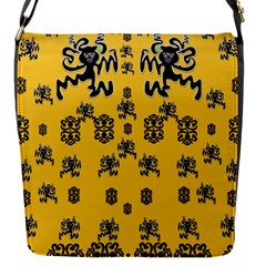 Disco Dancing In The  Tribal Nature  Flap Messenger Bag (s) by pepitasart