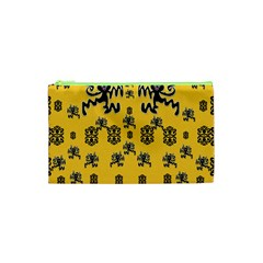 Disco Dancing In The  Tribal Nature  Cosmetic Bag (xs) by pepitasart