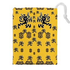 Disco Dancing In The  Tribal Nature  Drawstring Pouches (xxl) by pepitasart