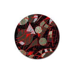 Artistic Abstraction Magnet 3  (round) by Valentinaart
