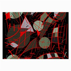 Artistic Abstraction Large Glasses Cloth by Valentinaart