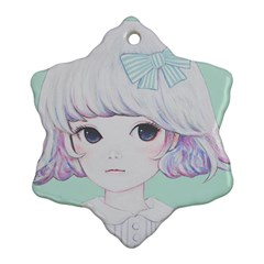 Spring Mint! Snowflake Ornament (2 Side) by kaoruhasegawa