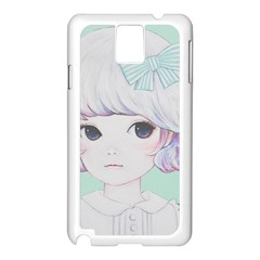 Spring Mint! Samsung Galaxy Note 3 N9005 Case (white) by kaoruhasegawa