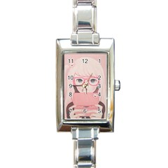 Gamegirl Girl Rectangle Italian Charm Watch by kaoruhasegawa