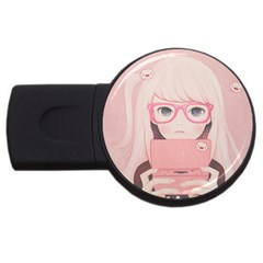 Gamegirl Girl Usb Flash Drive Round (2 Gb)  by kaoruhasegawa