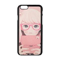 Gamegirl Girl Apple Iphone 6/6s Black Enamel Case