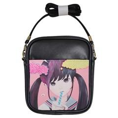 Sweet Boredom Girls Sling Bags by kaoruhasegawa