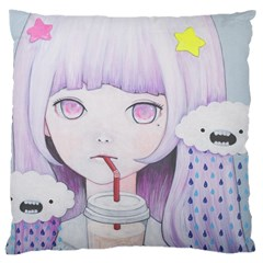 My Little Cloud 2 Large Cushion Case (one Side) by kaoruhasegawa
