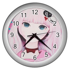 Sweet Tuesday Wall Clocks (silver)  by kaoruhasegawa