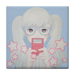 Gamegirl Girl Play With Star Tile Coasters by kaoruhasegawa