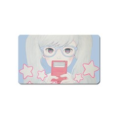 Gamegirl Girl Play With Star Magnet (name Card) by kaoruhasegawa