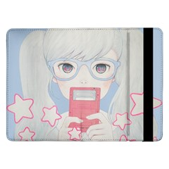 Gamegirl Girl Play with star Samsung Galaxy Tab Pro 12.2  Flip Case by kaoruhasegawa