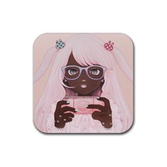 Gamergirl 3 P Rubber Coaster (Square)  by kaoruhasegawa