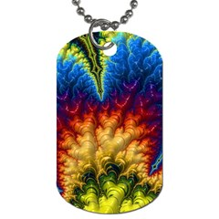 Amazing Special Fractal 25a Dog Tag (one Side)