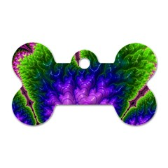 Amazing Special Fractal 25c Dog Tag Bone (two Sides) by Fractalworld
